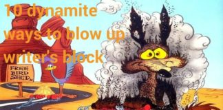 Wile e coyote blowing himself up with dynamite