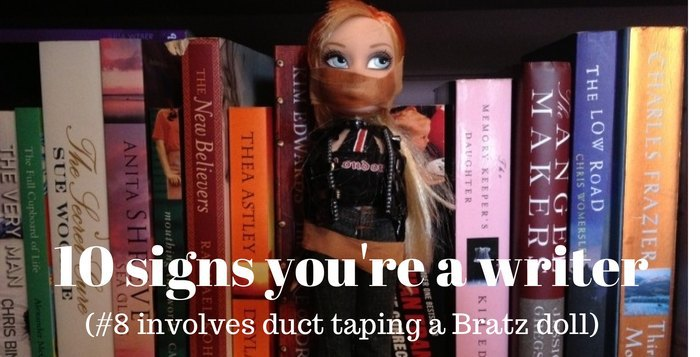 Duct taped Bratz Doll and Books