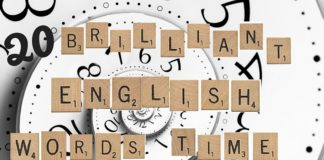 Scrabble tiles and wonderland clock