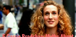 Carrie Bradshaw in sex and the city opening credits with tutu