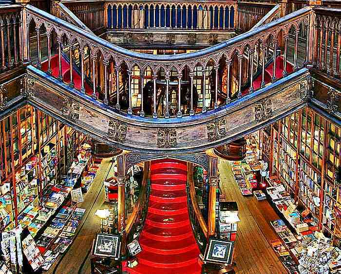 art deco bookshop in Portugal