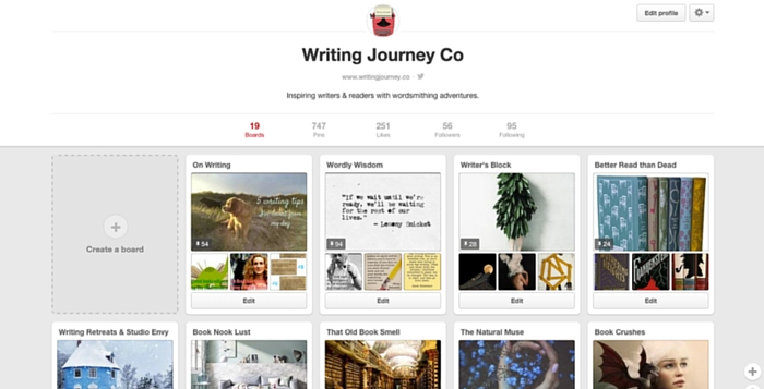 writing journey co profile pinterest page