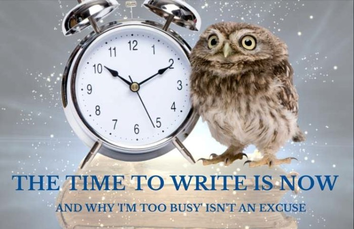 The time to write is now