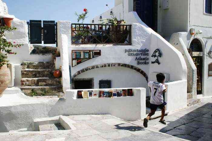 Bookstore in Santorini Greece