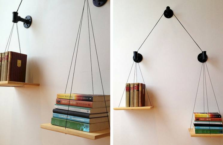scale book shelf