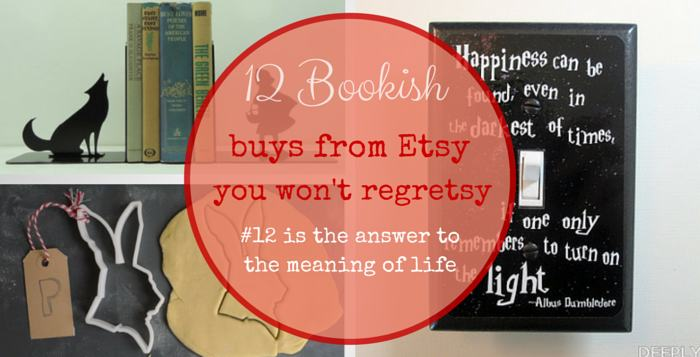 bookish buys from etsy