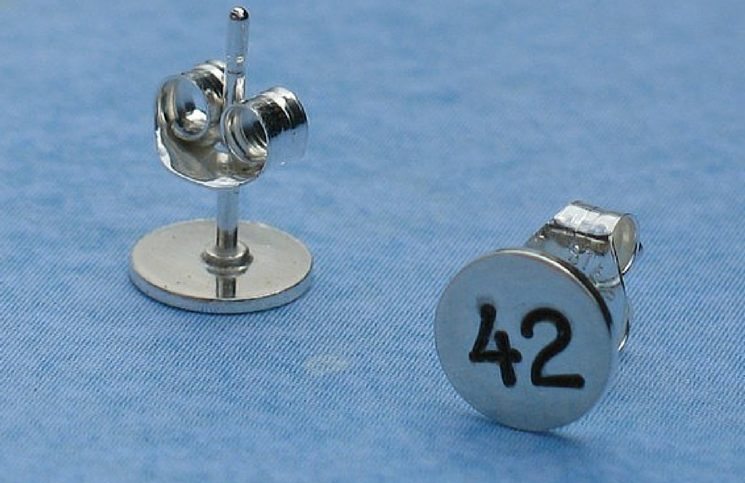 hitchhikers guide 42 earrings