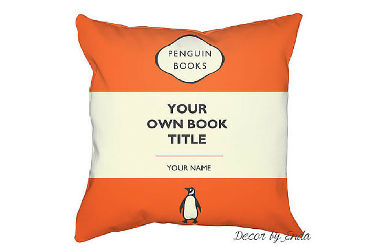 penguin books pillow case custom design