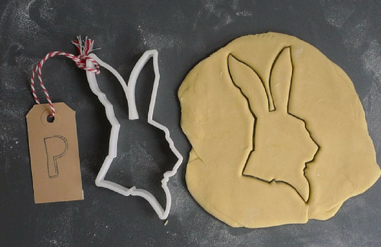 white rabbit wonderland cookie cutter